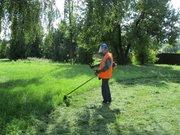 Разнорабочего для покоса травы триммером